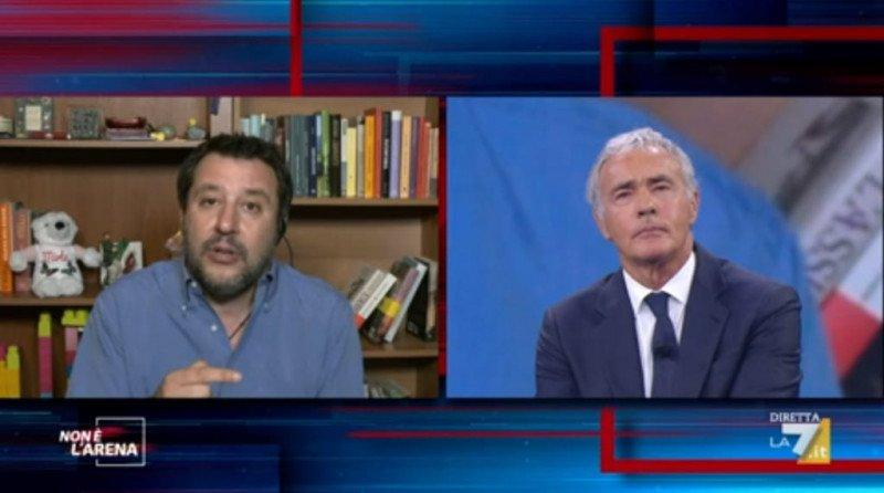Non è l'Arena (24 gennaio) - Salvini e Giletti
