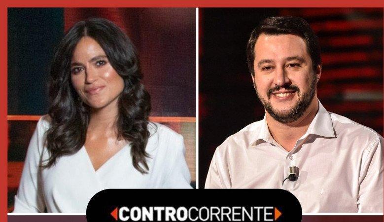 Controcorrente 30 agosto ospite Matteo Salvini